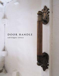 ドアハンドル 真鍮×WOOD
