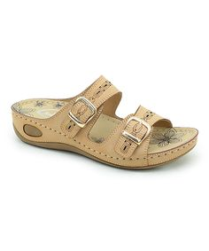 Take a look at this Natural Double-Buckle Sandal today!
