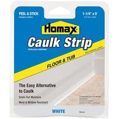 "Homax 34030 1-1/4"" Tub & Floor Caulk Strip"