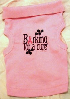 Barking for a cure breast cancer awareness t shirt!