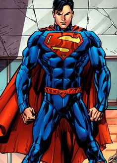 The New 52 Superman. Can't say I'm a fan of the new costume. Don't like the high collar. And it needs the red shorts.