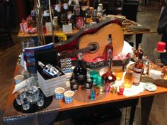 Making music on our Bourbon table with beautiful glassware at Market Alley Wines.
