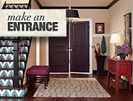 Get inspiration on ways to make an impact in your entryway