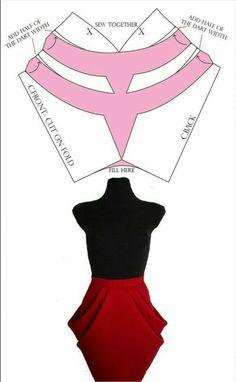 Fashion Illustration Collage, Corset Pattern, Skirt Patterns Sewing, Fashion Design Sketches, Pattern Cutting, Mode Hijab, Sewing Techniques, Fashion 2020, Dressmaking
