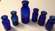 Blue jars, medicinal