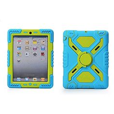 Hot Newest Ipad 2/3/4 Case Plastic Kid Proof Extreme Duty Dual Protective Back Cover with Kickstand and Sticker for Ipad 4/3/2 - Rainproof Sandproof Dust-proof Shockproof (Blue/Green) Afranker Cases http://www.amazon.com/dp/B00MM32FA6/ref=cm_sw_r_pi_dp_DiQzub1SXWZ3Z