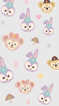 ideas wallpaper iphone cartoon backgrounds for 2019 Cute Pastel Wallpaper, Bear Wallpaper, Iphone Background Wallpaper, Kawaii Wallpaper, Trendy Wallpaper, Aesthetic Iphone Wallpaper, Pattern Wallpaper, Iphone Cartoon, Disney Phone Wallpaper