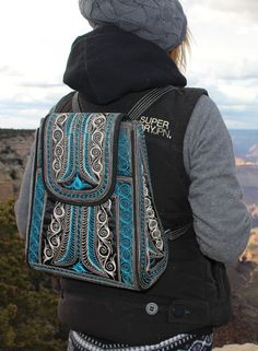 Handsfree and head turning, the backpack has never looked so chic! It is made from cruelty-free material and features handmade, traditional patterns by our local artisans. Winter Fashion Outfits, Fashion Bags, Boho Fashion, Fashion Ideas, Bohemian Girls, Vegan Handbags, Vegan Fashion, Handmade Bags, Backpack Bags
