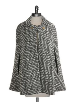 Ark & Co - Vintage Inspired Cape. Wanna make this one day with mums red coat Look Fashion, Autumn Fashion, Fashion Outfits, Womens Fashion, Blazers, Pretty Outfits, Cute Outfits, Couture, Dress To Impress