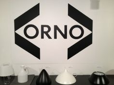 Orno Logo and lamps by Yki Nummi and Lisa Johansson-Pape.