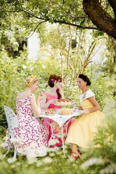 Tea party with girls