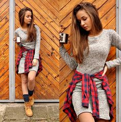 Get this look: http://lb.nu/look/7946354  More looks by Cveti Dimitrova: http://lb.nu/malechkaaa  Items in this look:  Timberland Boots, Dress