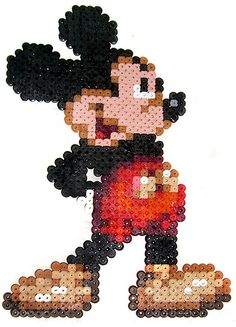 Mickey Mouse -- perler beads