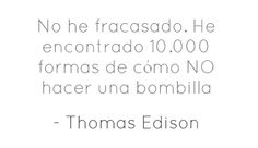 Fracaso segun Edison