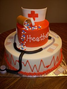 Nurse cake-- this is awesome but of course I'd want a different name on it. :)
