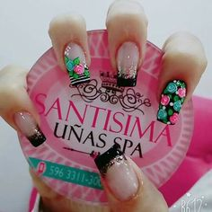 Uñas bellas Cute Nail Art, Beautiful Nail Art, Pretty Nail Designs, Nail Art Designs, Coffen Nails, Short Nails Art, Shellac, French Tip Nails, Nail Art Hacks