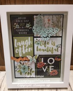 Hey everyone! This month I am featuring the Hello Lovely Project Life kit found on pg 163 in the Stampin' Up catalog. I made an 8×10 framed art piece and 5 cards to go with it. Thi…