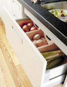 Gemüse Obst Küchen Schubladen Ordnung