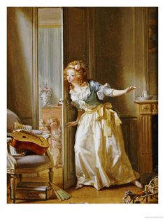 Hide and Seek - Michel Garnier (1789) See artist's name and date on book under the chair! : - )