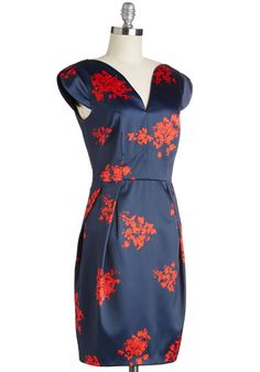 Bold is Beautiful Dress. You wear bold styles with the greatest of ease, and this navy sheath dress fits perfectly into your pretty, peppy wardrobe. #blue #modcloth