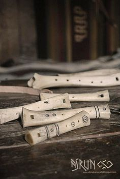 Viking bone flutes replicas.