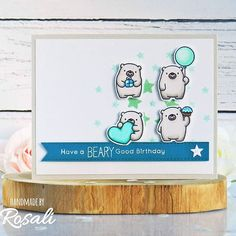 A beary birthday card inspired by @mftstamps' weekly sketch challenge and blueprints challenge! Had to finally use my #warmgray copics again and of course different shades of mint and teal! 😎 . How do you like this white photo background instead of the mint one? ☺ . . #mftstamps #mftsketchchallenge #blueprints1 #dienamics #bittybears #polarbearpals #beautifulbaby #photoboardshq #papercraftchallenges #birdiebrown #copiccoloring