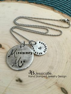 Missionary Mom Necklace  Pewter Necklace by JessicaBe on Etsy