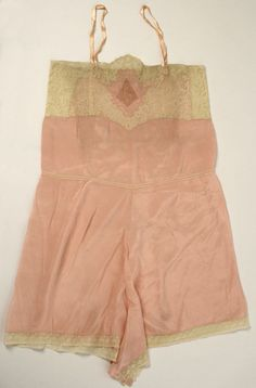 vintage 1920s French silk and cotton lingerie