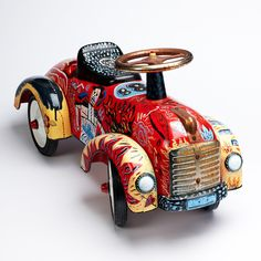 Working as an illustrator in a variety of fields and greatly inspired by music, Jonny Hannah's vibrant designs and witty handmade type have previously been printed in Vogue magazine and… Toy Cars For Kids, Kids Ride On, Pedal Cars, Bath Toys, Tin Toys, Vintage Toys, Vintage Stuff, Toy Store, Vintage Children
