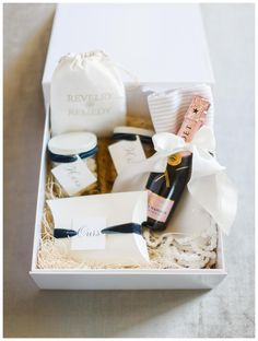 Wedding welcome gift by A Signature Welcome. Image by Rachel May Photography.