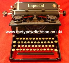 The Typewriter Man - Typewriter of the Month