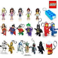 OFFICIAL-LEGO-KEY-CHAIN-LIGHT-LED-KEYRING-TORCH-DC-COMICS-STAR-WARS-LEGO-FRIENDS