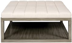 MARTY TO SUPPLY LEATHER FOR OTTOMAN Vanguard Furniture: W44SWAN Wayland Square Wood Ottoman