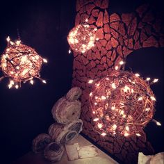 FASM 425 Final Project by Jessica Wooten, Brittney Wooten, and L'Tanya Bellille via Behance (vine lights - closer look)
