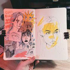 "художница '☁️ on Instagram: ""🪐  #digitalpaint #drawingstyle  #illustration_best  #sketch_dailydose #sketchbook  #digital_art #photoshopart #artofdrawing…"""