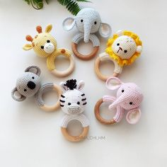 Safari baby rattle Hippo Elephant Lion Giraffe Zebra Koala, Cotton rattle, Safari shower gift, Expecting mom gift, Parents congrats present Safari Baby Rassel Hippo Elefant Löwe Giraffe Zebra Koala Cute Hippo, Baby Hippo, Baby Elephant, Giraffe, Baby Shark, Diy Mothers Day Gifts, Gifts For Mom, Happy Mothers, Crochet Animals