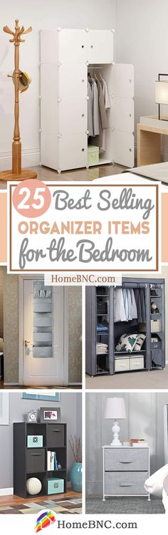 25 Best Selling Organizer Products that will Completely De-clutter your Bedroom - Homebnc.site - Beautiful and Creative Home Design and Decor Ideas Bedroom Storage Cabinets, Cupboard Storage, Smart Storage, Cube Storage, Storage Ideas, Space Saving Storage, Storage Spaces, Small Space Living, Small Spaces