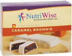 NutriWise - Caramel Brownie Diet Protein Bars (7 bars) >>> Additional details at the pin image, click it  : Bars Snacks Weight loss dietry
