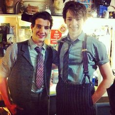 Jack Scott and Mike Faist as the Delancey brothers in Newsies! Probably pinned this already, but I just love it!