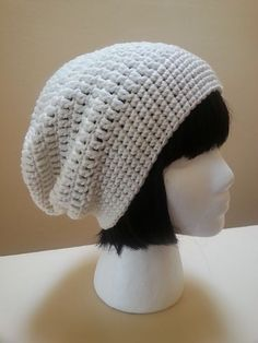 Hadley Slouch Hat, free pattern by Acquanetta Ferguson. Worked in the round, no seam . *UPDATE: Made this with a different stitch for the band, fast easy pattern for the body. Recipient really liked it  :-)  . . .  ღTrish W ~ http://www.pinterest.com/trishw/  . . . #crochet #hat
