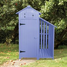 This Sage Green coloured wooden Tool Shed and Log Store is perfect for storing away all your garden tools and will look great in your garden. The shed is made i Garden Tool Shed, Garden Tool Storage, Shed Storage, Storage Area, Small Storage, Wooden Sheds, Wooden Boxes, Shed With Log Store, Cool Sheds
