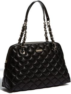 Kate Spade Gold Coast  Georgina Quilted Metallic Shopper in Black