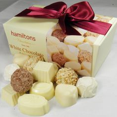 hamiltons white chocolate White Chocolate, Gifts, Food, Presents, Essen, Meals, Favors, Yemek, Gift