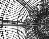 Amaze Me, Paris Photograph, Black and White Photograph, Fine Art Print, Square Photograph, Galeries Lafayette, Stained Glass. $27,00, via Etsy.