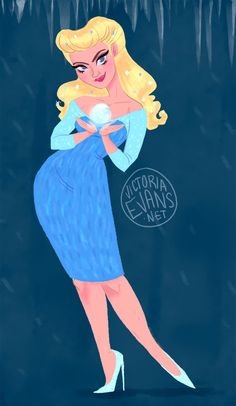 3ef303839d Quick doodle of Elsa as a 50 s bombshell