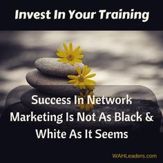 Investing in training is the difference between success and failure. The only areas of grey should be where you get that training from.  WAHLeaders.com  #acn #avon #countrygourmethome #directsales #entrepreneur #herbalife #homebasedbiz #itworks #isagenix #internetmarketing #javita #liasophia #mlm #miche #melaleuca #momprenuer #pamperedchef #scentsy #seacret #thirtyone #thrivelife #tastefullysimple #wildtree #wahm #younique
