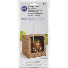 Wilton Caramel Apple Treat Boxes 4inX4inX4in 3/Pkg