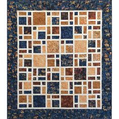 Island Batik Scattered Quilt Kit 64 x 73 - Just sash your 9-patches and then cut…
