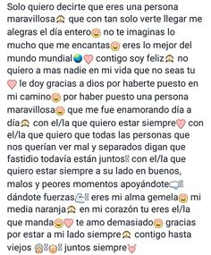 Descubre (¡y guarda!) tus propias imágenes y videos en We Heart It Cute Texts For Him, Text For Him, Relationship Goals Text, Relationship Pictures, Letter To My Boyfriend, Bff Birthday Gift, Tumblr Love, Love Text, Love Phrases