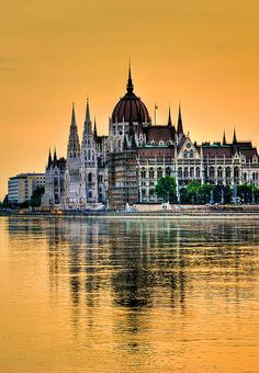 Glowing Parliament - Budapest, Hungary by 10mmm, via Flickr